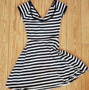 Garage | Striped stretchy cotton dress